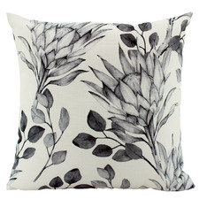 Black & White Protea Cushion