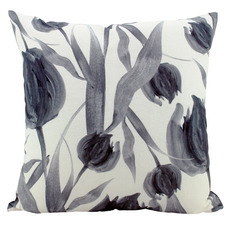 Black & White Tulip Cushion