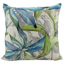 Organic Aquelle Leaves Linen-Blend Cushion