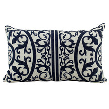 Hamptons Geometric Rectangular Linen-Blend Cushion