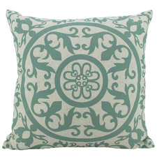 Hamptons Geometric Linen-Blend Cushion