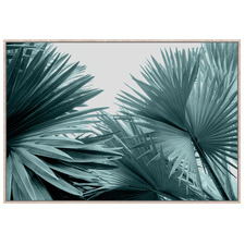 Tropical Ghost Palms Framed Canvas Wall Art