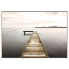 On  The Pier Framed Canvas Wall Art