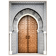 Moroccan Arch Entrance Framed Canvas Wall Art