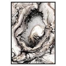 Veined Marble Framed Canvas Wall Art