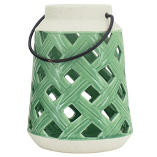 Lorri Glazed Ceramic Lantern