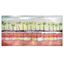 Palm Sunset Canvas Wall Art