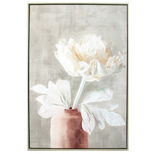 Caily Flower In Vase Framed Canvas Wall Art