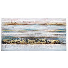 Bronzed Ocean Canvas Wall Art