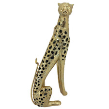 Gold Cheetah Statue