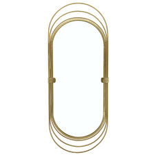 Gold Tracie Oval Metal Wall Mirror