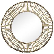Amira Round Bamboo Wall Mirror