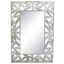 Silver Acai Metal Wall Mirror