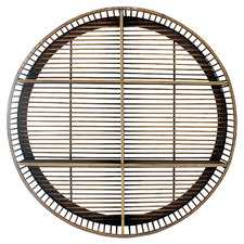 Harley Round Bamboo Wall Shelf