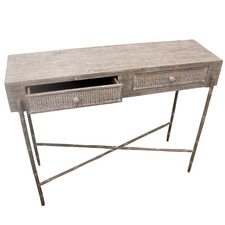 Leanna 2 Drawer Wooden Console Table
