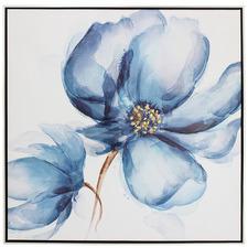 Blue Bon Fleur Framed Canvas Wall Art