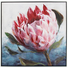 Reena Single Protea Framed Canvas Wall Art