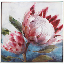 Reena Double Protea Framed Canvas Wall Art