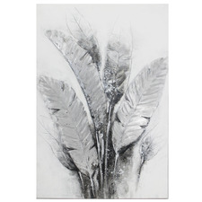 Dusty Strelitzia Stretched Canvas Wall Art