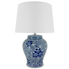 Blue & White Aria Ceramic Table Lamp
