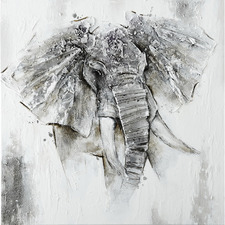 The Elephant Stretched Canvas Wall Art