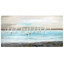 Lake Sails Stretched Canvas Wall Art