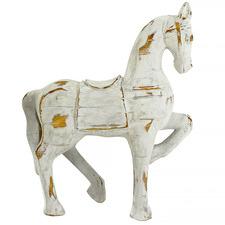 Distressed White Horse Statue