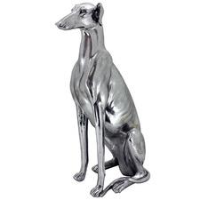 Silver Max Greyhound Statue