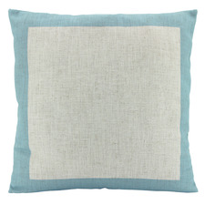 Bordered Linen-Blend Cushion