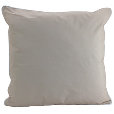 White Piped Outdoor Cushion