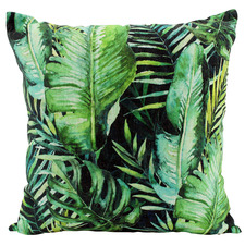 Night Jungle Linen-Blend Cushion