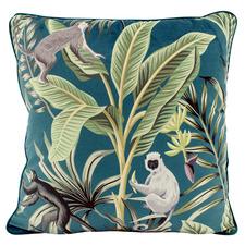 Jade Jungle Fun Velvet Cushion