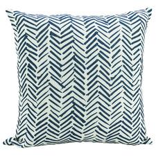 White & Navy Tefeti Cushion