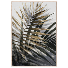 Neutral Ferns Framed Canvas Wall Art