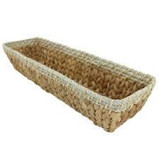 Saini Hand-Woven Water Hyacinth Bread Basket