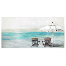 Beachside Stretched Canvas Wall Art