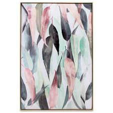 Eucalyptus Collage Framed Canvas Wall Art