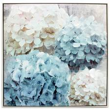 Nikko Blue Framed Canvas Wall Art