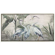 Cranes Framed Canvas Wall Art