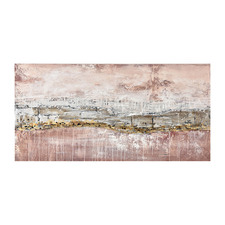 Geo Rocky Oil Stretched Canvas Wall Art