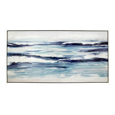 Oceans Abstract Framed Canvas Wall Art