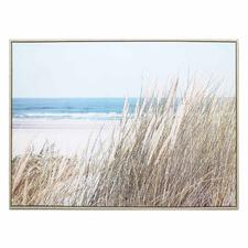 Beach Grass Framed Canvas Wall Art