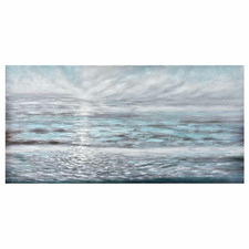 Misty Sunrise Stretched Canvas Wall Art