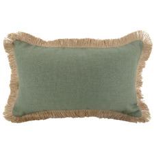 Fringed Rectangular Linen Cushion