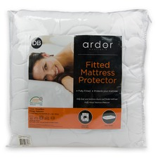 White Ardor Fitted Mattress Protector