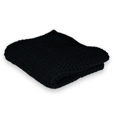 Ardor Knitted Black Throw