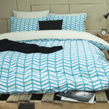 Teal Banyan Quilt Cover Set