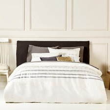 Cream Peyton Embroidered Quilt Cover Set