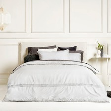 Silver Lilah Embroidered Quilt Cover Set