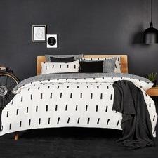 Natural Kente Cotton Quilt Cover Set